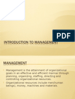 Introduction to management 1