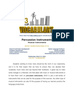 Post 341 - Vocabulary Series - Percussion Instruments