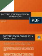 FACTORES QUE INTERVIENE EN LA CRIMINALIDAD