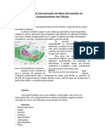 Influência da Concentração do Meio Extracelular no Comportamento das Células