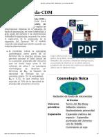 Modelo Lambda-CDM - Wikipedia, la enciclopedia libre