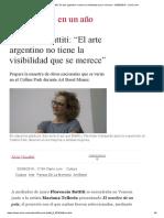 Florencia Battiti_ _El arte argentino no tiene la visibilidad que se merece_ - 03_08_2019 - Clarín.com