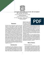 Medida del componente Horizontal en función de la longitud del campo terrestre