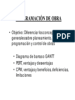 LOS METODOS DE PROGRAMACION DE OBRAS