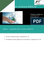 Gestão dos recursos hídricos - 10ºANO