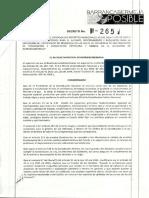 Decreto 265 de 2019