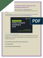 Get Advantage of Online Computer Coaching at TCCI