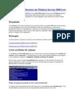 Installer Active Directory sur Windows Serveur 2008 Core