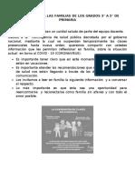 REFLEXIÓN PARA LAS FAMILIAS DE LOS GRADOS 3
