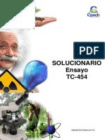 Solucionario Ensayo TC-454