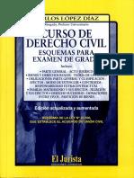 Curso de Derecho Civil. Esquemas para examen de grado - Carlos López Díaz (1)