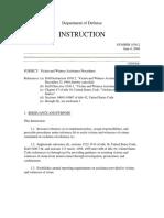 DOD Directive 1030.2 Victim and Witness Assistance Procedures