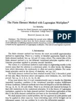 FEM Lagrangian Multipliers
