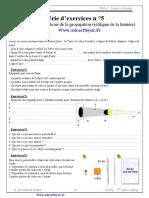 Série 1 . propagation rectiligne de la lumière (Www.AdrarPhysic.Fr)