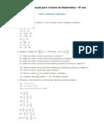 Ficha 1 - Números e operações
