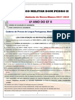 Prova6anoProcessoSeletivo2018