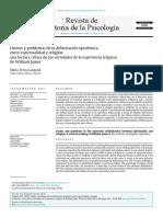 Limites y problemas de la delimitacion epistemica entre psicologis y religion