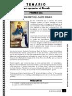 aprender el rosario TEMARIO