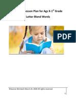 READING WEEK 26 Letter r Blend Words