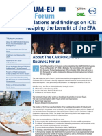 Cariforum-EU Business Forum - Recommendation & Findings on ICT - Reaping the Benefits of the EPA