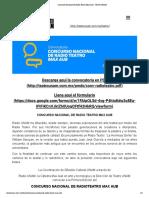 Concurso Nacional de Radio Teatro Max Aub - Teatro UNAM