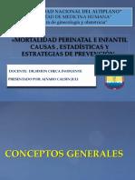 MORTALIDAD PERI-NATAL E INFANTIL
