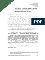EL ASPECTO OBJETIVO DE LA RESPONSABILIDAD PENAL DE LOS DIRECTIVOS PRINCIPALES POR DELITOS TRIBUTARIOS, SEGÚN LA LEGISLACIÓN CHILENA