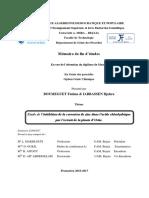 Etude de l'Inhibition de La Corrosion de Zinc Dans l'Acide Chlorhydrique Par l'Extrait de La Plante d'Ortie.