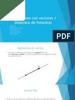 Operaciones con vectores en el plano y espacio