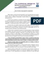 Comunicat BNS 25 03 2020 APEL CĂTRE GUVERN ȘI PARLAMENTUL ROMÂNIEI