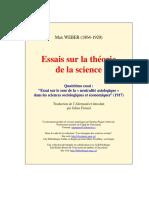 Weber Max - Essais sur la thВorie de la science 4.pdf