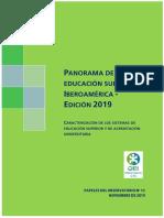 2019_Panorama de la educación superior en Iberoamérica
