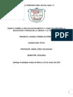 trabajo ensayo sobre la educacion en mexico