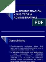ADMINISTRACION-ORGANIZACION Y SUS TEORIAS