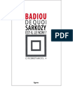 Badiou, Alain  - [badiou circonstances 4] - De quoi Sarkozy est-il le nom