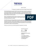 Open Letter Re Following Executive Order