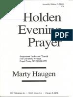 Holden Evening Prayer 3-19-2014