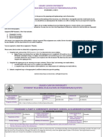 student teaching evaluation of performance  step  standard 1 part i