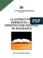 Estructura normativa de la constitución política de Nicaragua