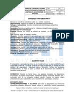 Instructivo examenes complementarios - Diagnosticos - Plan de tratamiento