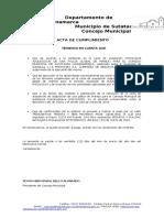 ACTA DE CUMPLIMIENTO 2019