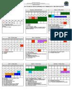 2018 Calendário 19 semanas