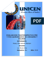 Abordaje fisioterápico en la cirugía por cáncer de pulmón