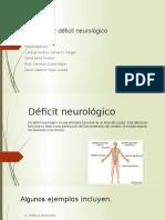 CIRCULACION ,DEFICIT NEUROLOGICO DANIA