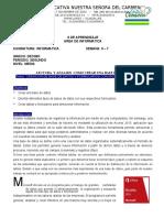 GUIAS GRADO DECIMO INFORMTATICA SEMANA 6 Y 7.doc