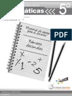 Matemáticas - Educarchile 5° básico - unidad 6