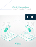 Python 2.7 to 3.X Migration Guide - How to Port from Python 2 to Python 3 by STX Next