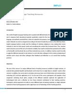Programa_English Language Teaching Resources