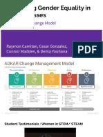 adkar change model-gender equality in stem