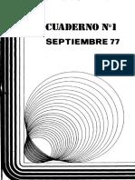 Cuaderno de Información de Unidad Socialista N° 1 septiembre de 1977
